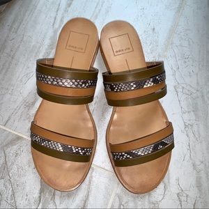 Dolce Vita Snakeprint Slides Sandals